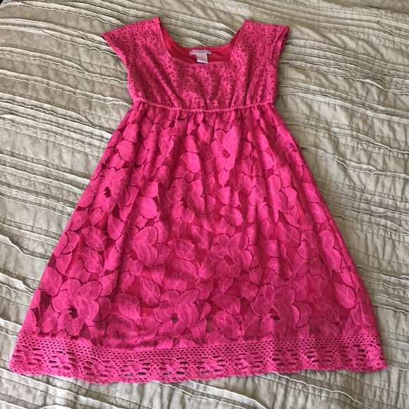 Ultra Pink Dresses & Skirts - Lace Dress